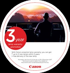 Uživajte u bezbrižnosti uz Canonovo promotivno trogodišnje jamstvo na žarulje.